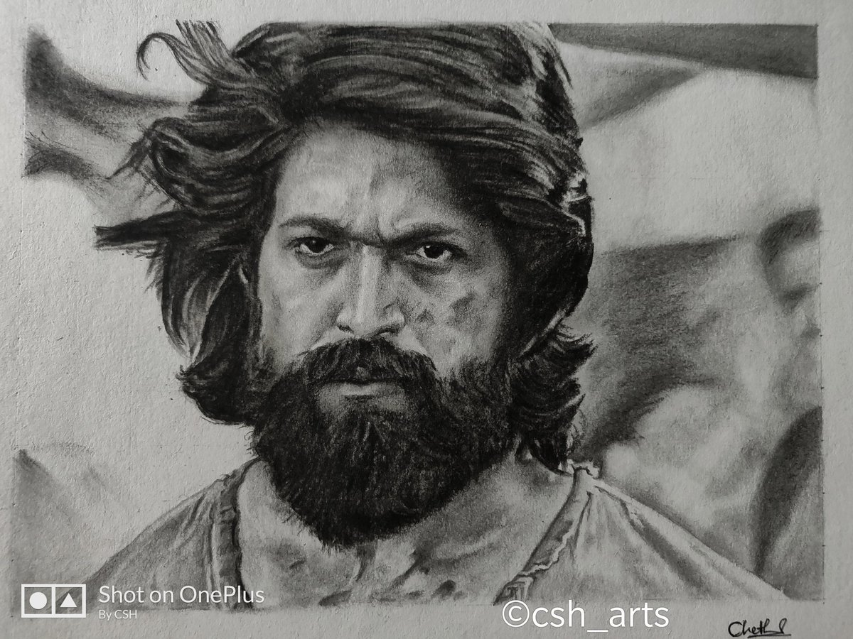 Pencil drawing of nimmayash hope you like it anna 🙏 kgf yash