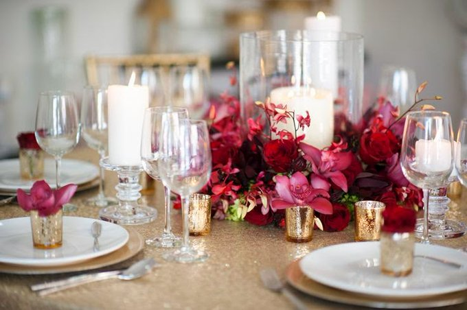 This colour is smoking HOT for winter! Marsala is not a colour that can be done quietly, it is loud and proud and there is so much that catches the eye with this #wedding theme. Read more on our blog. #SaturdayMorning Photo