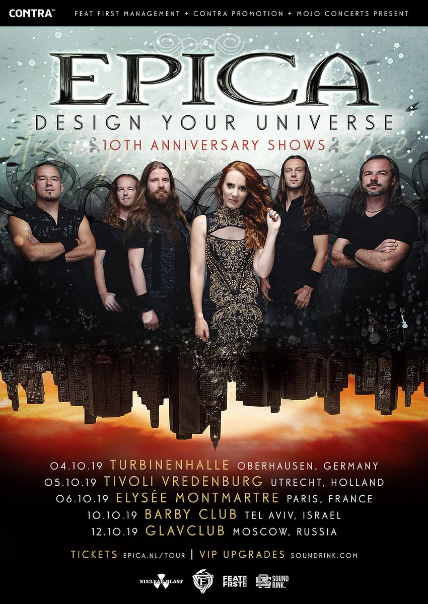 Legion! Tickets for Design Your Universe 10th Anniversary shows are one sale now from epica.nl/tour