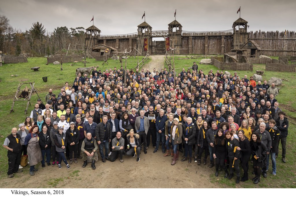 Thank You @HistoryVikings for having me out for some great fun!  The ambitious show is possible because of the kind and hard working people in this photo.   I will miss them dearly.   It was an absolute honour to go into battle with you all! ⚔️ ⚔️ ⚔️