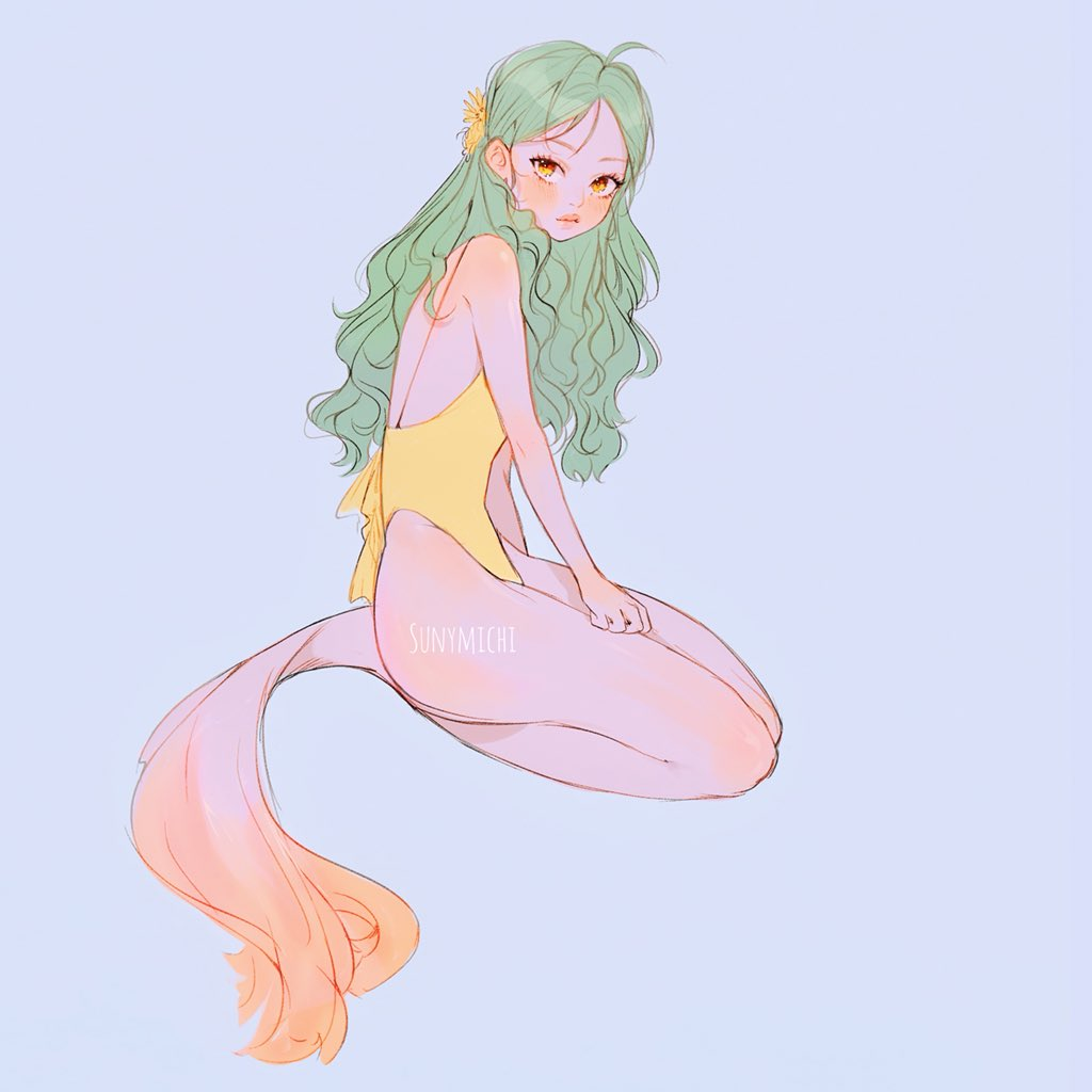 Sketch of my sunbeam mermaid <br>http://pic.twitter.com/2pGJvknYWA