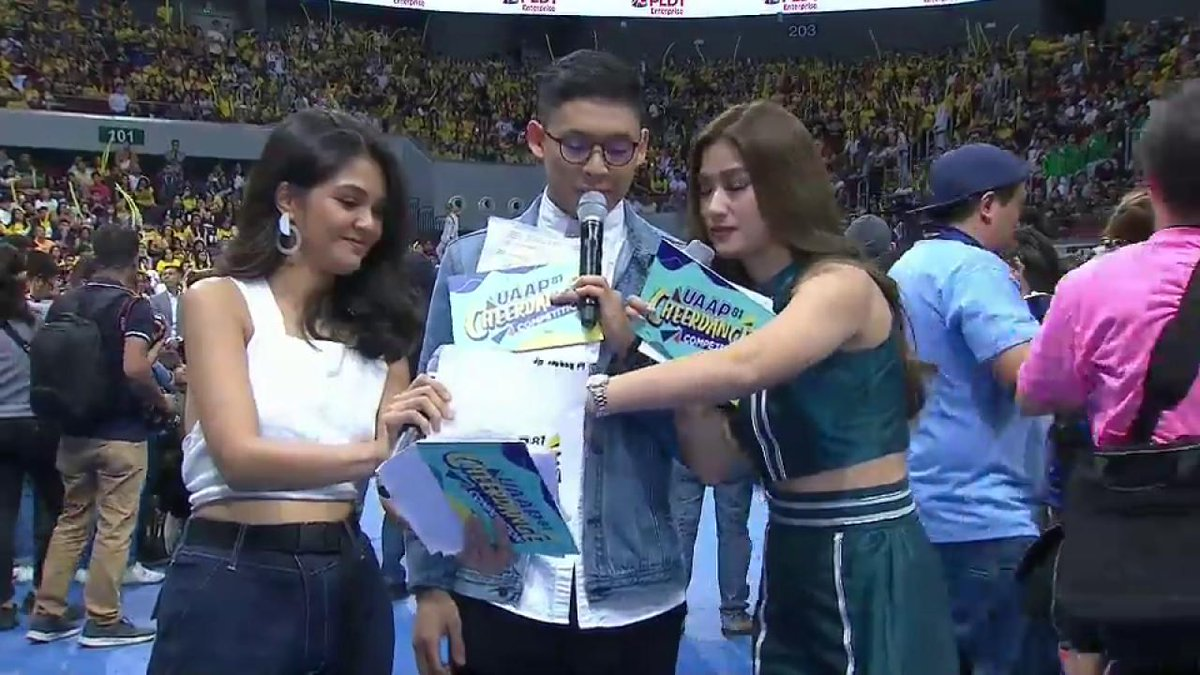 Image for the Tweet beginning: First runners-up, the FEU Cheering