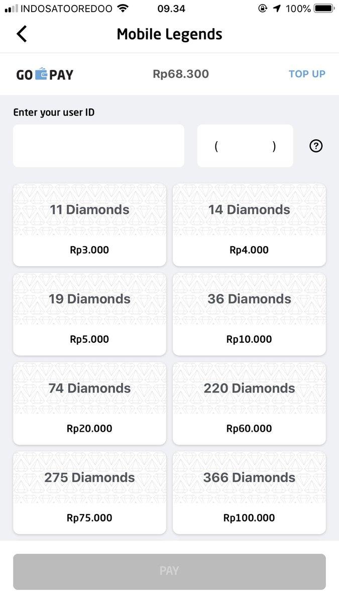 Gopayindiamond Photos And Hastag Mobile Legend Diamond 36 Irfan Nur Ilman Main Udah Satu Setengah Tahun Dan Dari Dulu Ribet Banget Minta Di Gift Karena Gak Punya Kartu Kredit