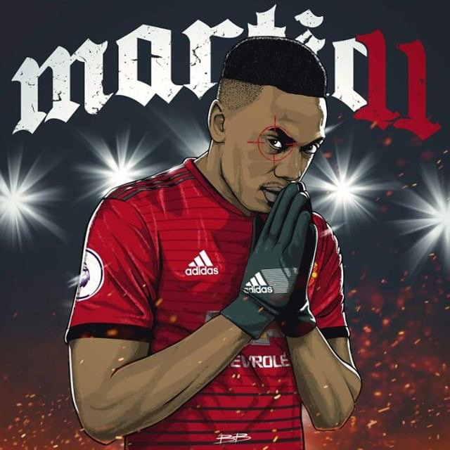 The English press said he had no chance!   @AnthonyMartial by @BokkaBoom   #MUFC <br>http://pic.twitter.com/SIqZLlhU5Y