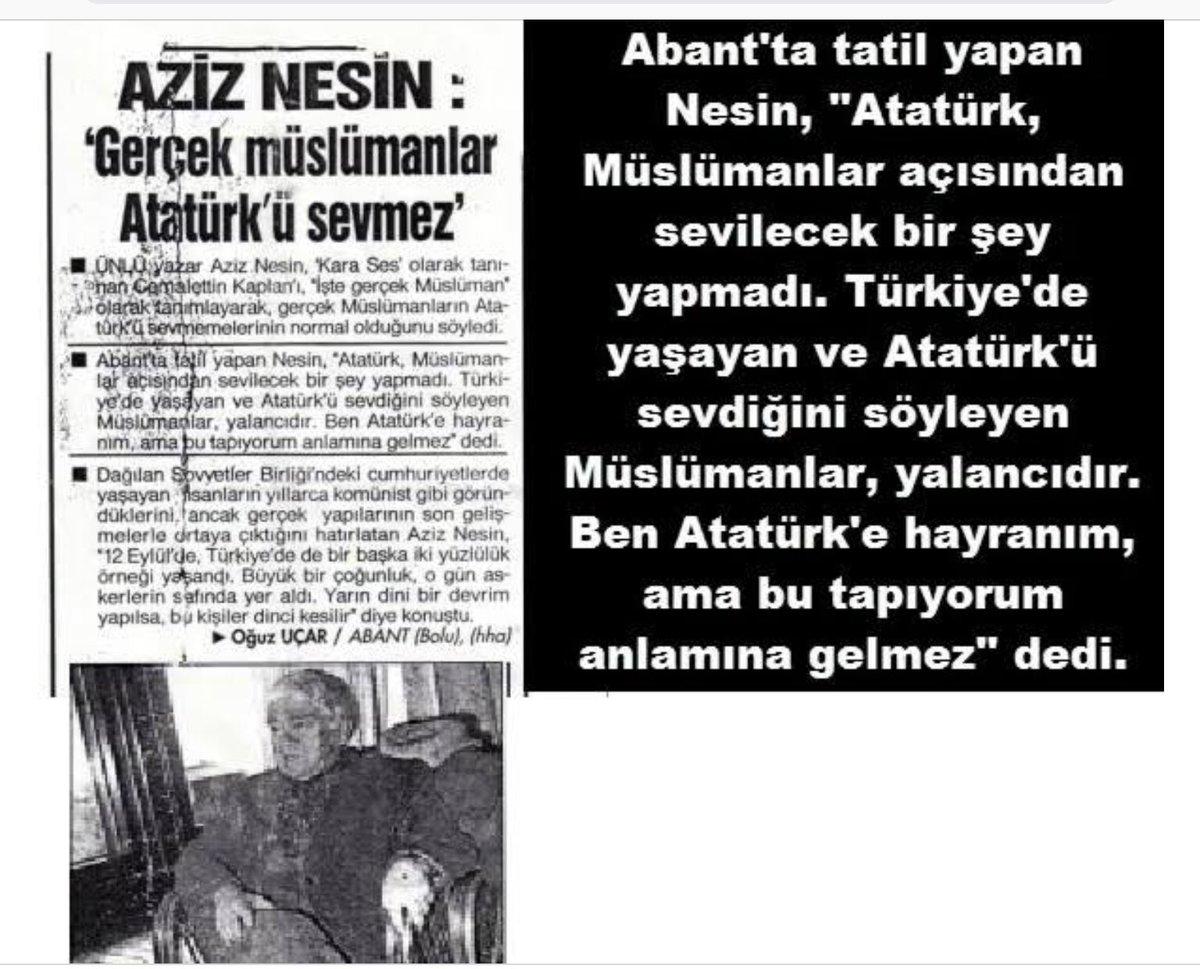 Salih Tunas Tweet Gerçek Müslüman Atatürkü Sevemez Seviyorsa