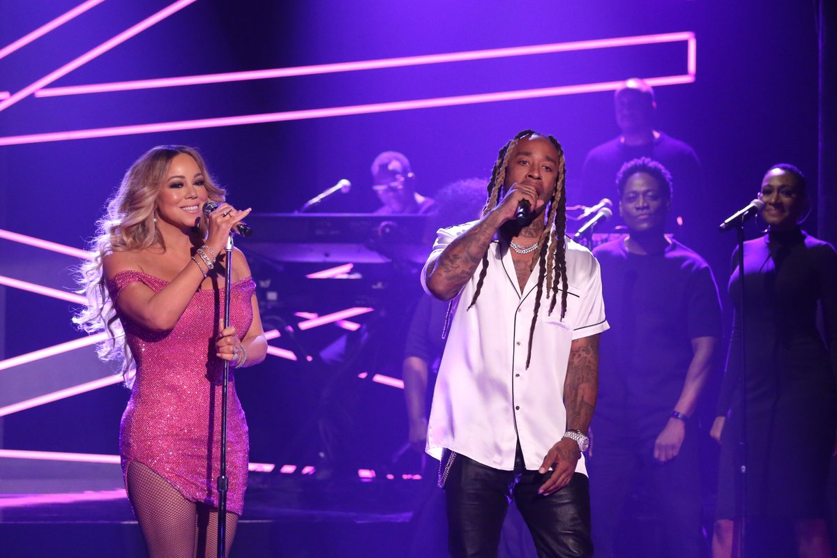 .@MariahCarey & @tydollasign Perform 'The Distance' on 'The Tonight Show' https://t.co/vGDUty2B5l https://t.co/79Y3lyNH7x