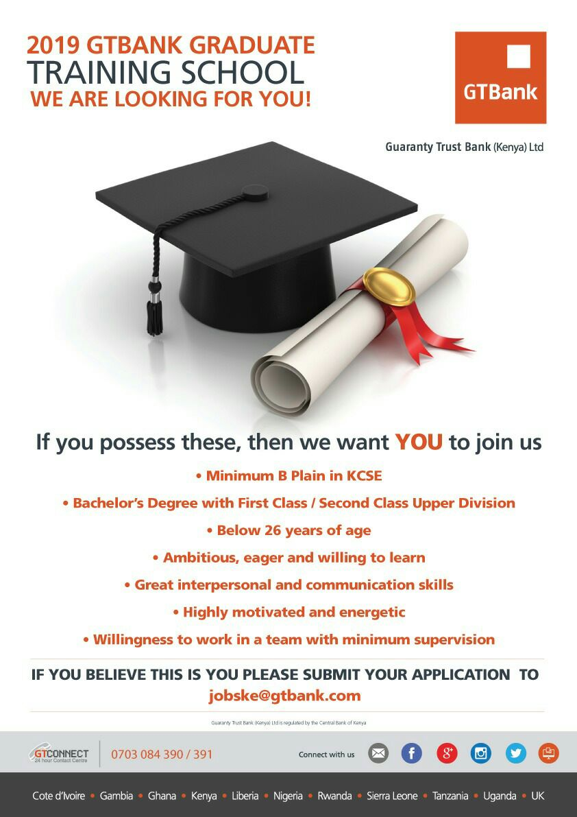 9f350f3bb5 10 Kenyan Graduate Trainee Programs To Apply In 2019 – Youth Village ...