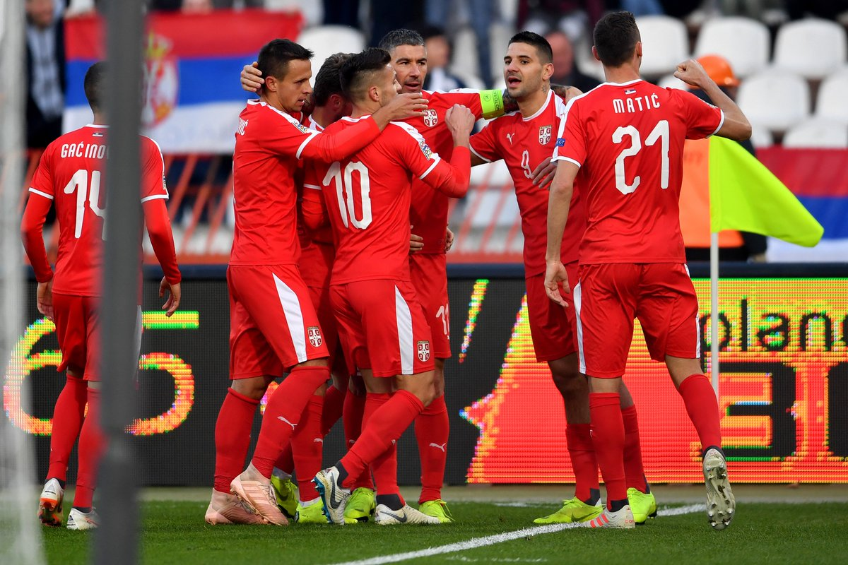 Mitro = 🔥🔥🔥🔥🔥🔥🔥🔥🔥🔥🔥 🇷🇸Serbia frontman Aleksandar Mitrovic hit his eleventh goal of 2018 for his country to see @FSSrbije edge a 2-1 win over neighbours 🇲🇪@FudbalskiSavez in the UEFA #NationsLeague