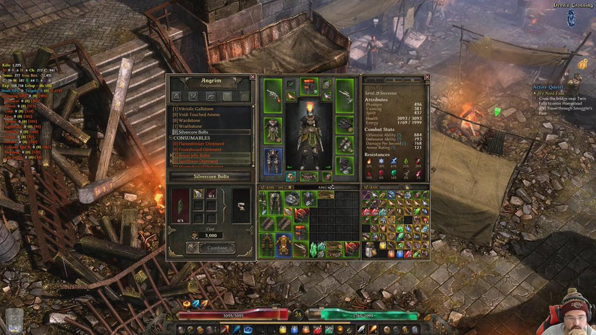 grim dawn vitriolic gallstone
