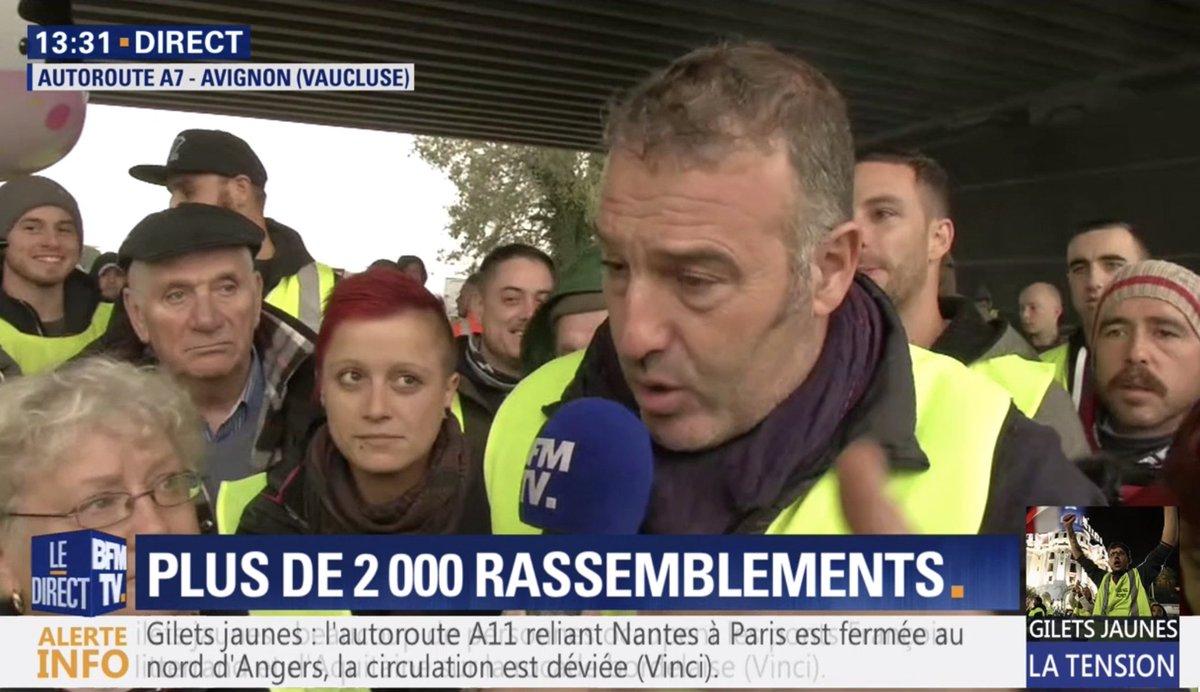 🇫🇷 'Démission du gouvernement, dissolution de l'Assemblée nationale' dit cet homme dans le Vaucluse en direct sur BFMTV