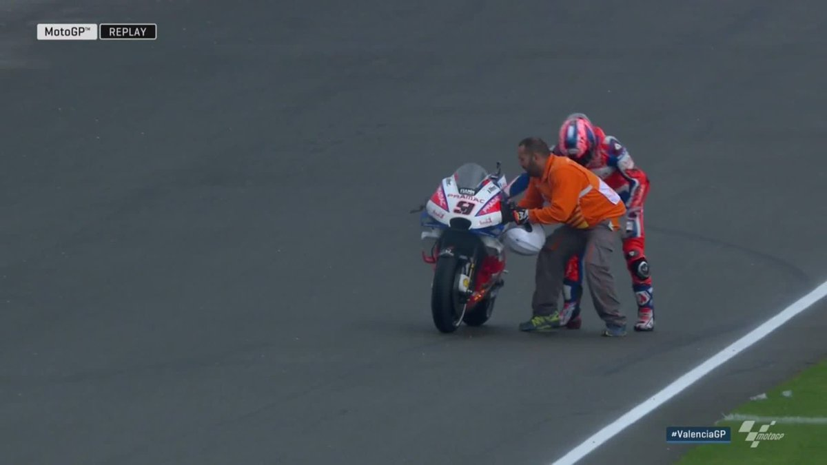 Motogp On Twitter Bit Of Drama At The End Of That One As Petrux9 S Ducati Catches Fire On The Cool Down Lap Valenciagp