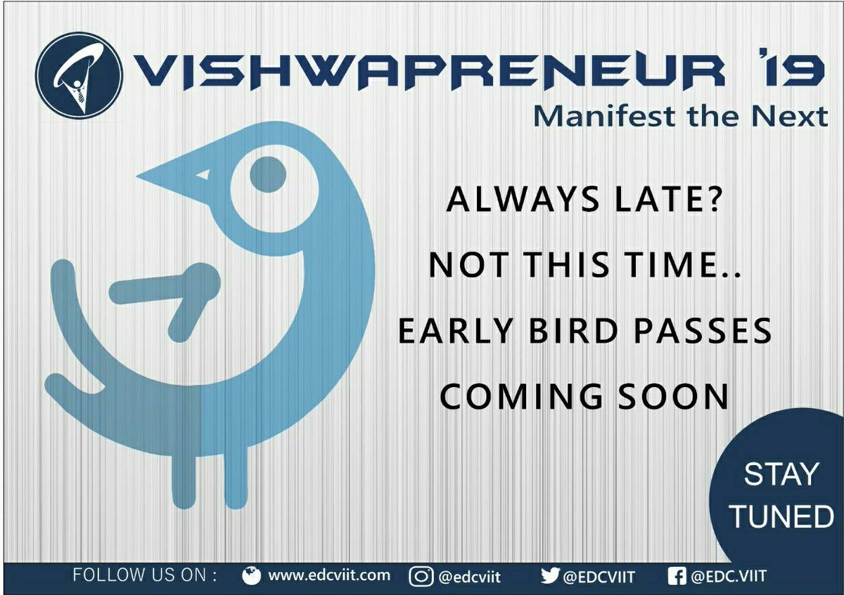 Have an idea but want to know if it&#39;s bane or boon?  Early Bird Tickets coming soon... #entrepreneur  #vishwapreneur #earlybird<br>http://pic.twitter.com/rXSktpagUc