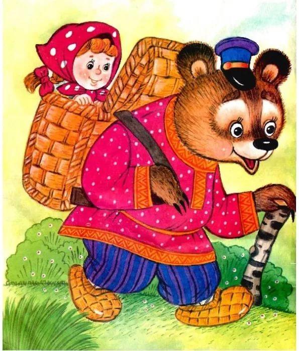 Картинки сказке маша и медведь