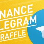 Image for the Tweet beginning: #Binance Telegram raffle! Have a