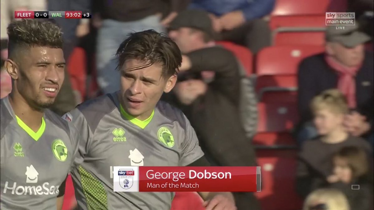 George Dobson's last 3 days: 🎂 Thursday: 21st birthday ✒️ Friday: new 3-year contract 🍾 Saturday: Man of the Match @WFCOfficial @ftfc