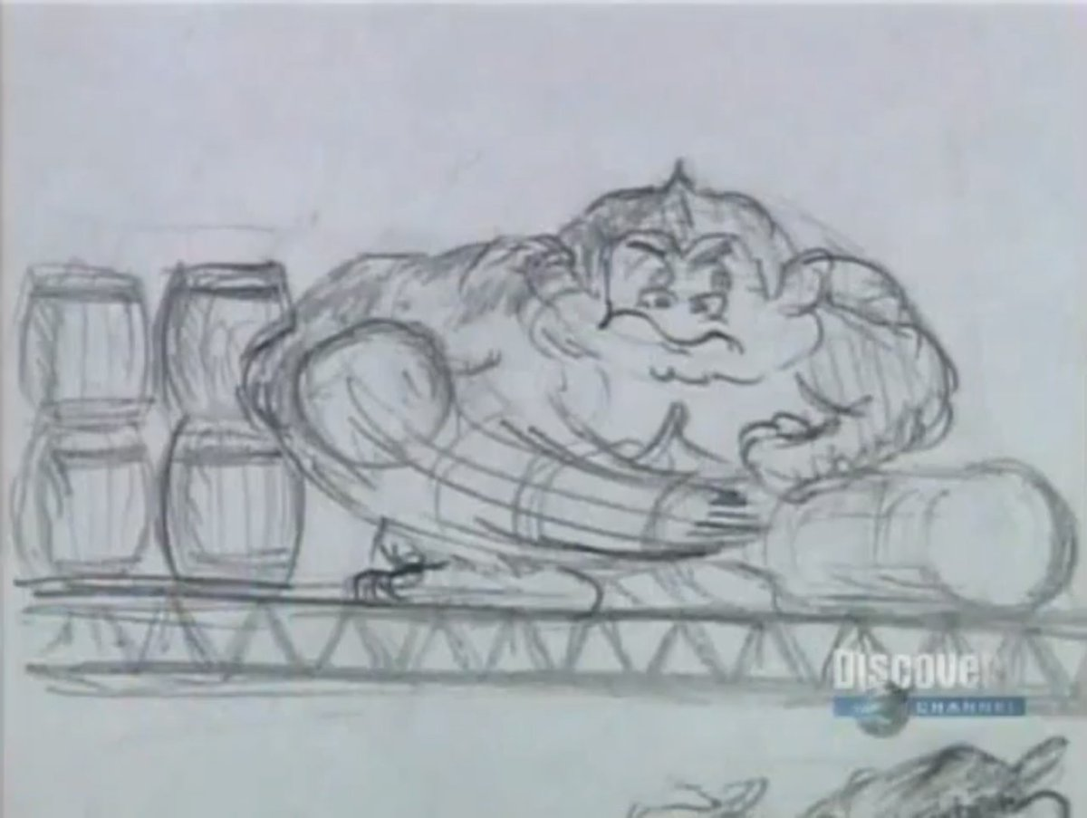 Early rough Donkey Kong arcade sketches by Shigeru Miyamoto. These sketches were drawn to see how they could handle character animations. <br>http://pic.twitter.com/D4nCEzp6Wj