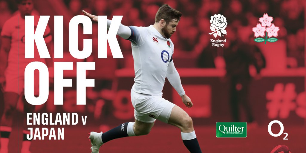 #ENGvJPN   Were underway at Twickenham. Stay with us for live score updates, tune in and watch LIVE on @SkySports Main Event, or follow our live blog: bit.ly/ENGvJPNLive