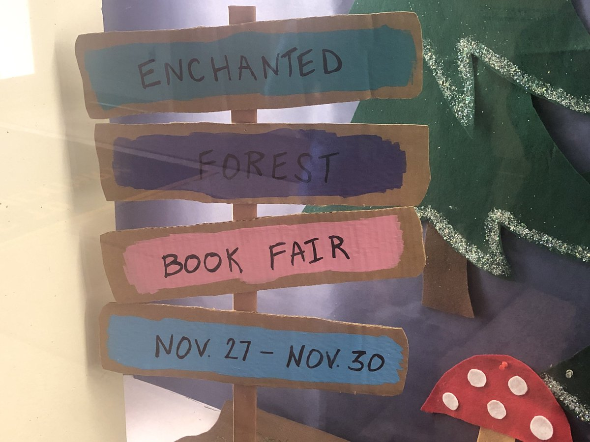 It's an Enchanted Forest happening at Jamestown. Come to our book fair Nov 27th - Nov 30th. <a target='_blank' href='http://twitter.com/JamestownESPTA'>@JamestownESPTA</a> <a target='_blank' href='https://t.co/JealNBQZ9c'>https://t.co/JealNBQZ9c</a>
