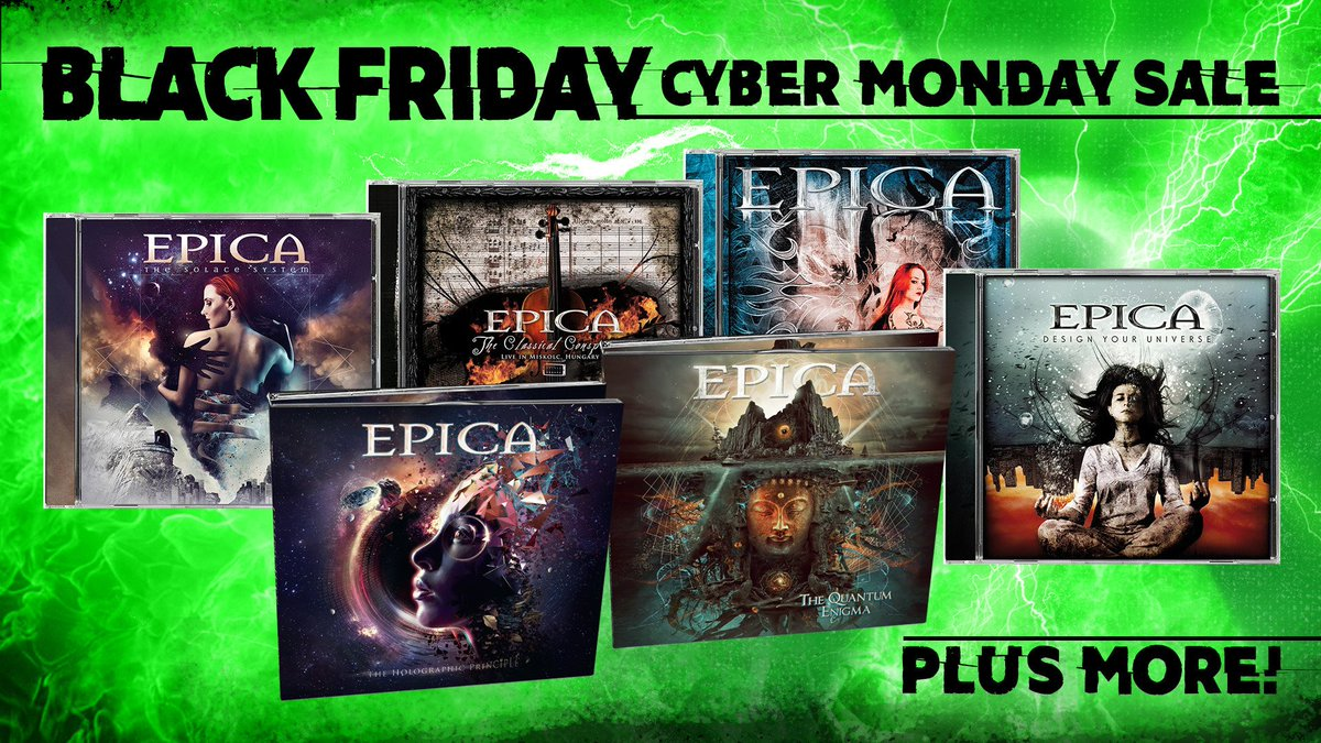 LEGION! Head over to Nuclear Blasts Black Friday and Cyber Monday sale for select EPICA titles to add to your collection. NA: nuclearblast.com/blackfriday UK: nuclearblaststore.co.uk SHIPS WORLDWIDE