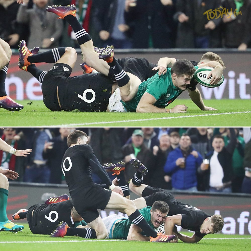 HEROES - each and everyone of them! ☘️ An historic win for Ireland on home soil against The All Blacks!  🇮🇪 Ireland 16 - 9 New Zealand 🇳🇿  #IREvNZ #IRLNZ @IrishRugby @offtheball #Ireland
