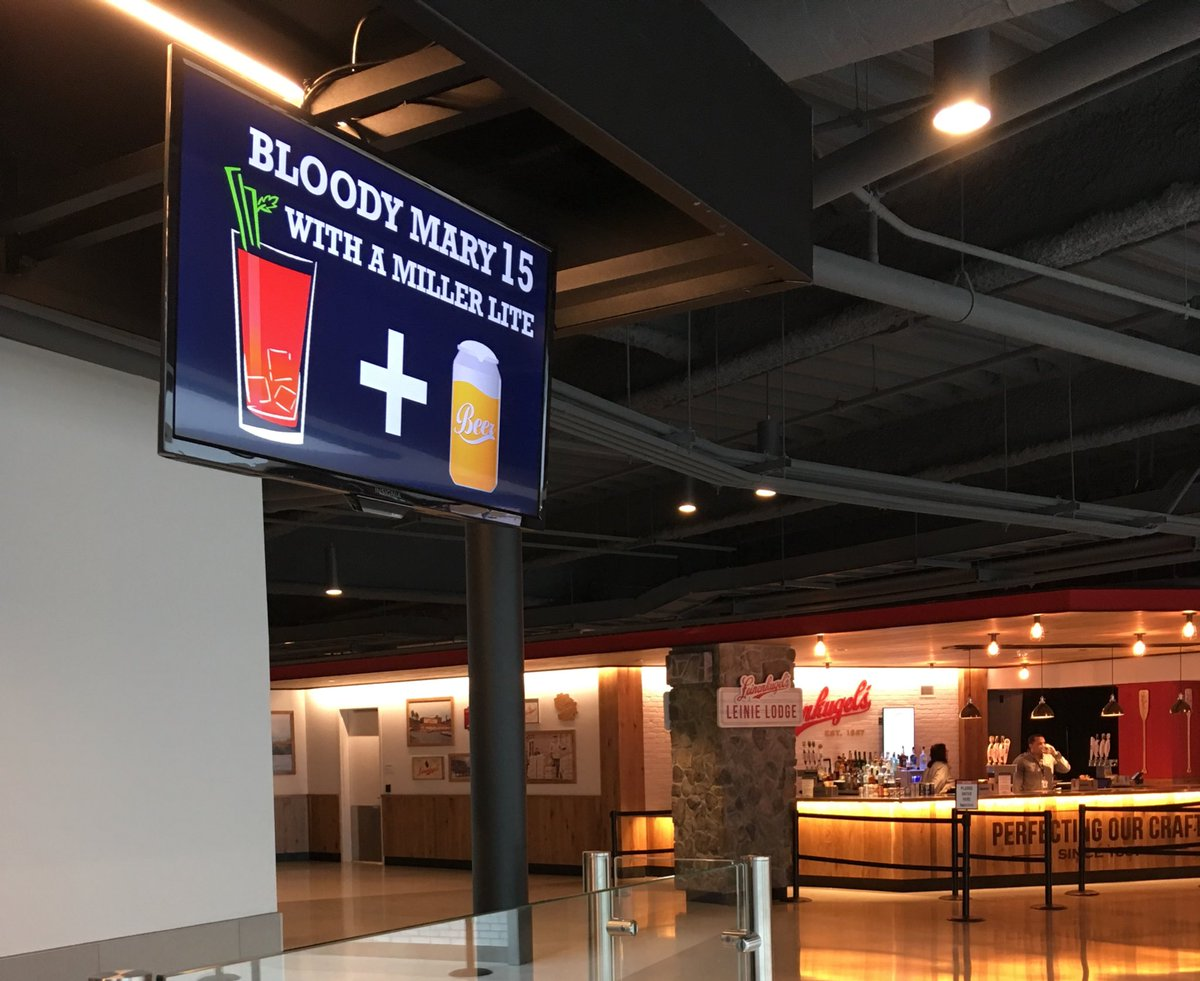 Saturday morning game = Bloody Mary time! If you're here for @MarquetteMBB come by section 105 on the main concourse to make your own Bloody Mary! 😛