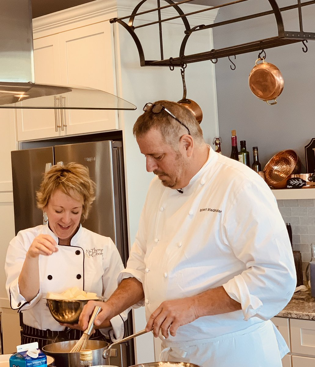 Gorgeous November day with #Michelin Chef Robert Wiedmaier  on #SolomonsIsland - #ChesapeakeBay at cooking school No Thyme To Cook. @rw_restaurant_group @NoThymeToCook – at Solomons Island