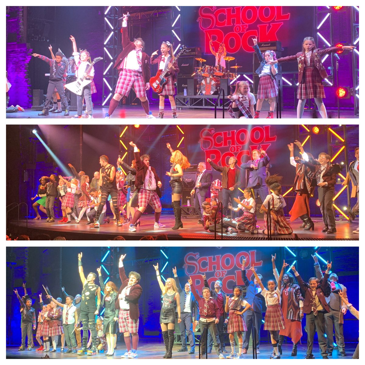 What a brilliant 'standing ovation' for the total cast of @SchoolOfRockUK - a must see for all West End musical lovers ! My clients @neilahickman Supplies really enjoyed the performance ... simply outstanding !