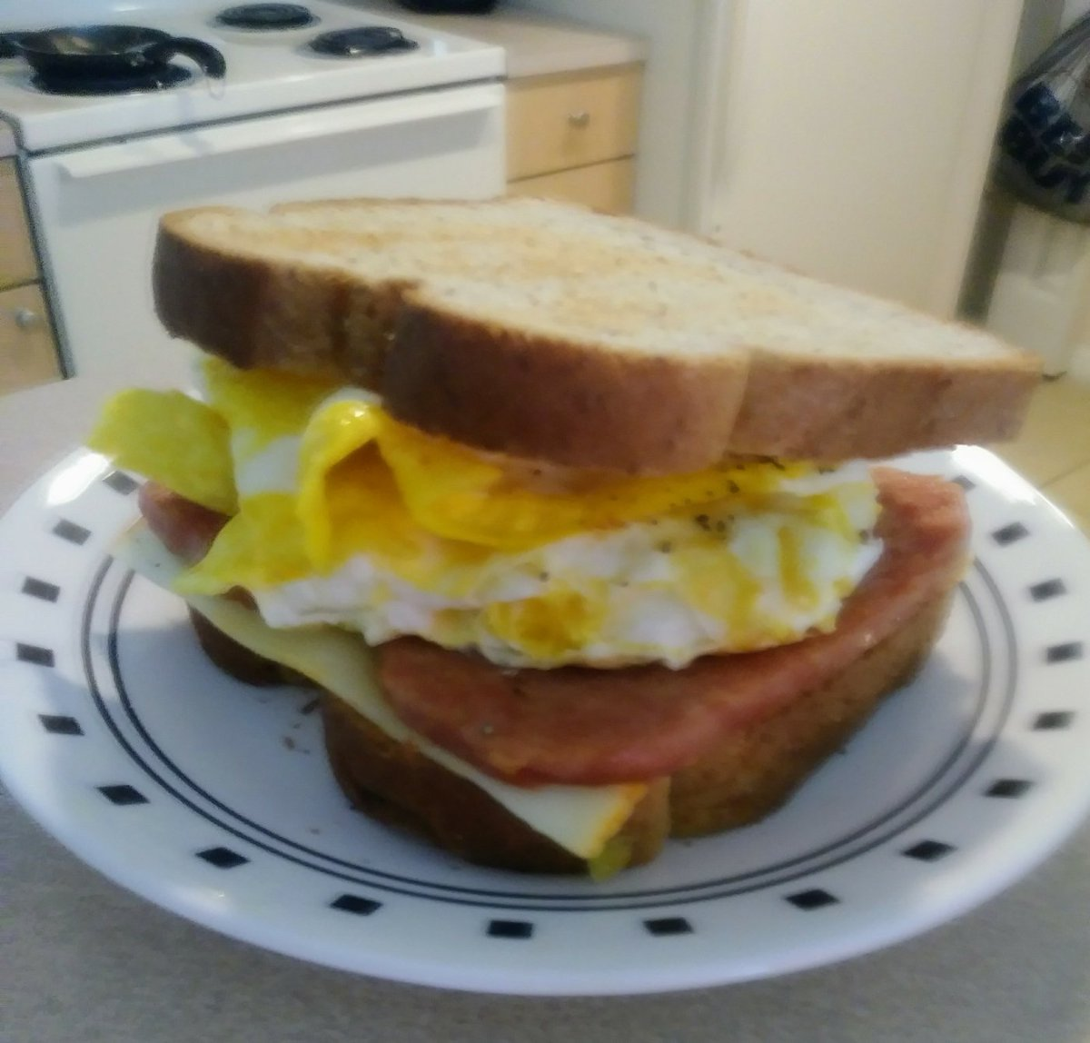 Spam And Egg Sandwich