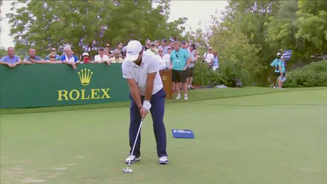 A closer look at the swing of @PReedGolf