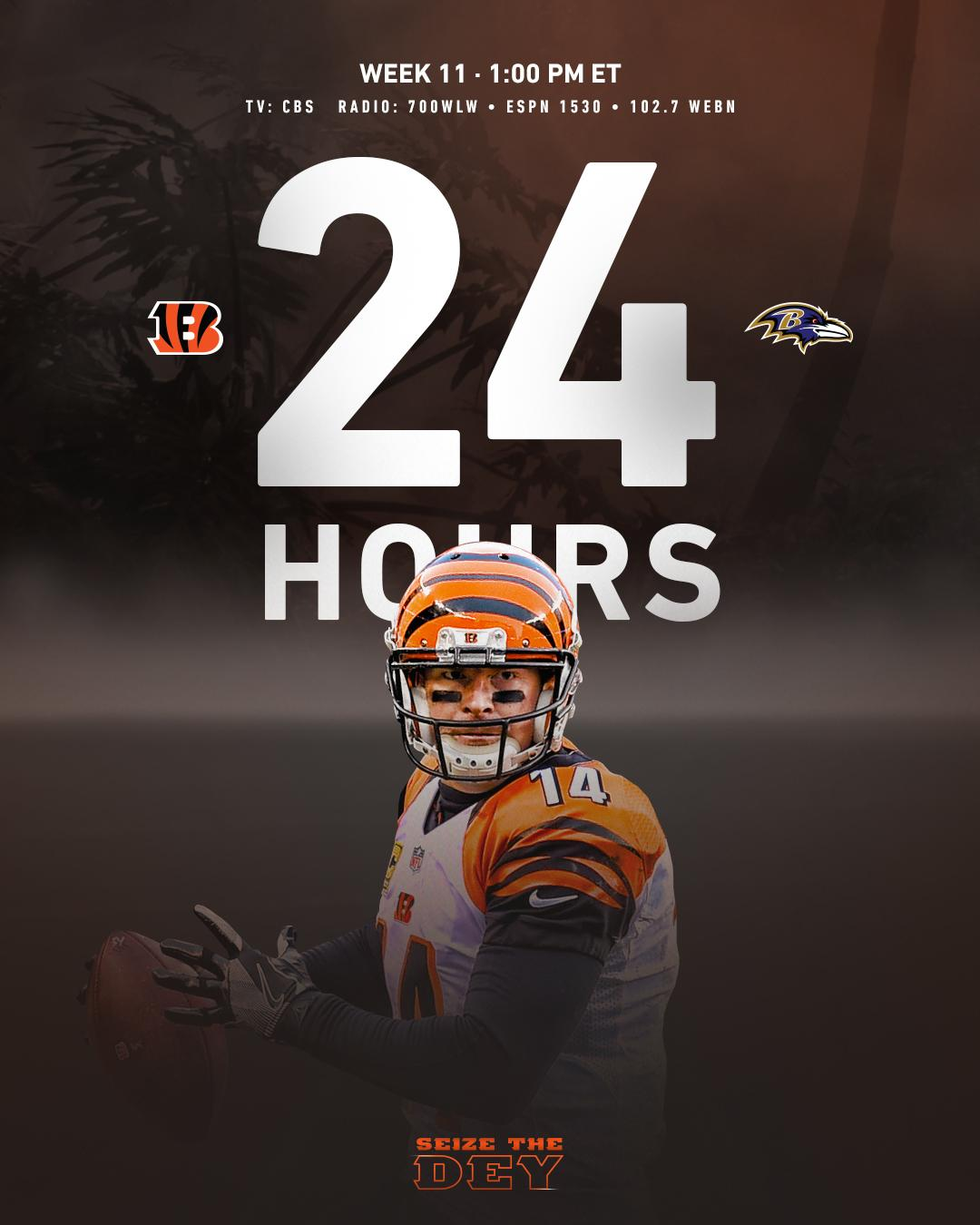 Tomorrow.  #CINvsBAL #SeizeTheDEY https://t.co/rI1eznn85Q