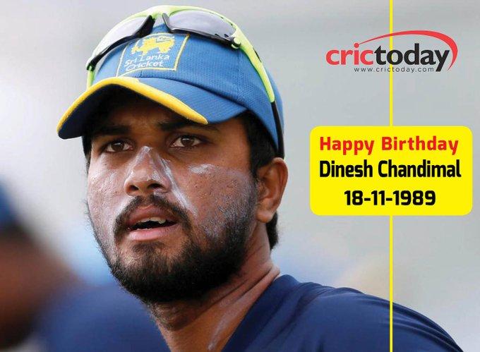 Wishing Dinesh Chandimal A Very Happy Birthday....