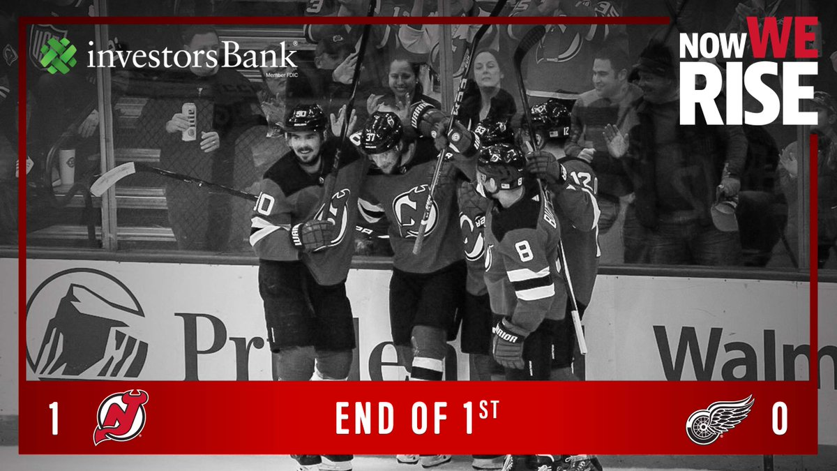 Off to a great start on this Military Appreciation Day presented by @Prudential. #DETvsNJD   #NJDevils lead 15-4 in SOG.