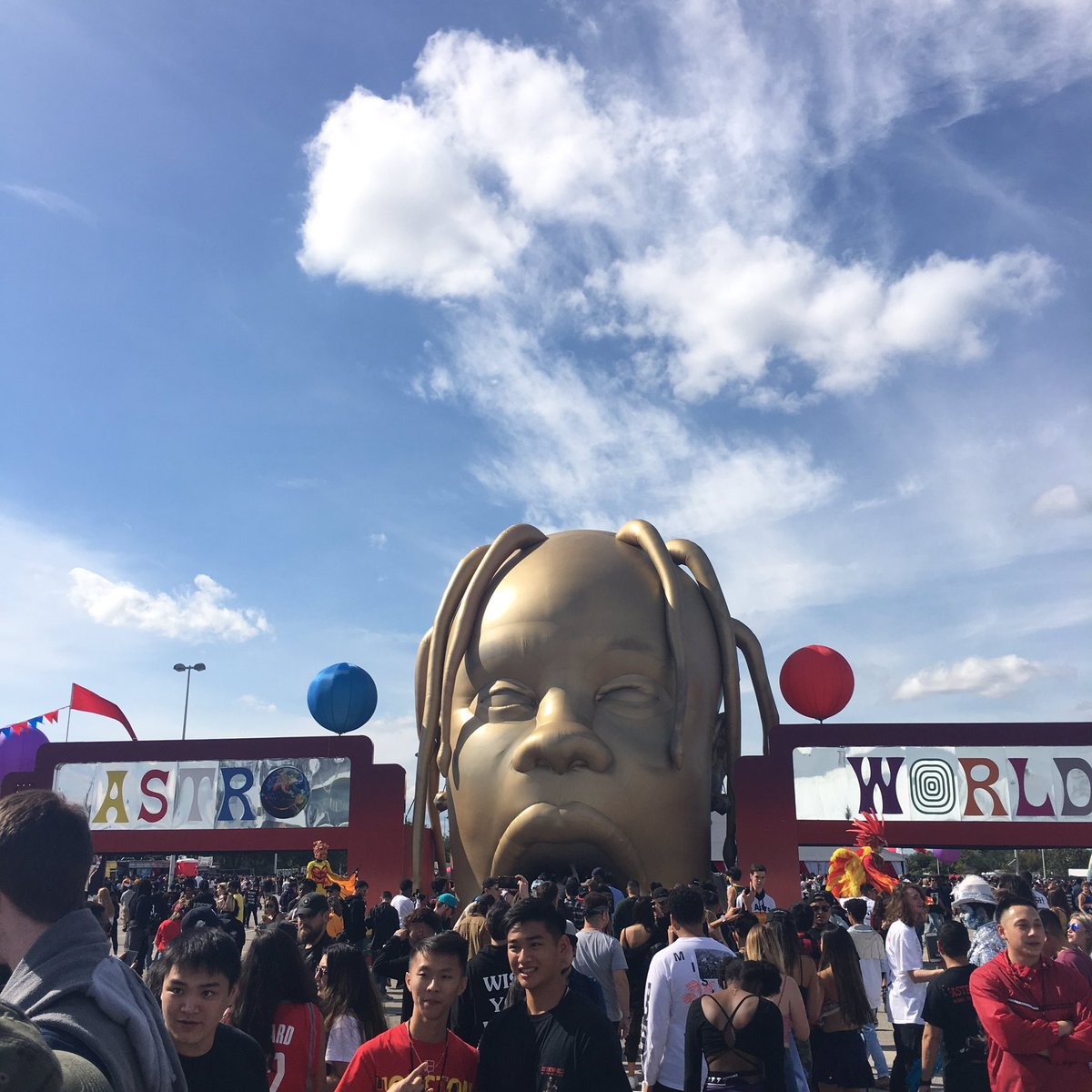 Hey y'all we're here at the very first Astroworld fest in HTX! 🎡🔥🎢 who else is here? #AstroworldFest2018