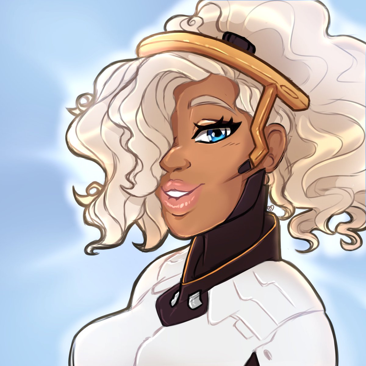 A true blessing if I've ever seen one. A quick colored sketch of @OtakuSkum ~! #godisawoman #Overwatch #curlycosplay<br>http://pic.twitter.com/1TeKZxCUVX