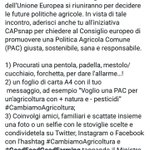 Image for the Tweet beginning: #cambiamoagricoltura Anastasia, Martina e Sara ci