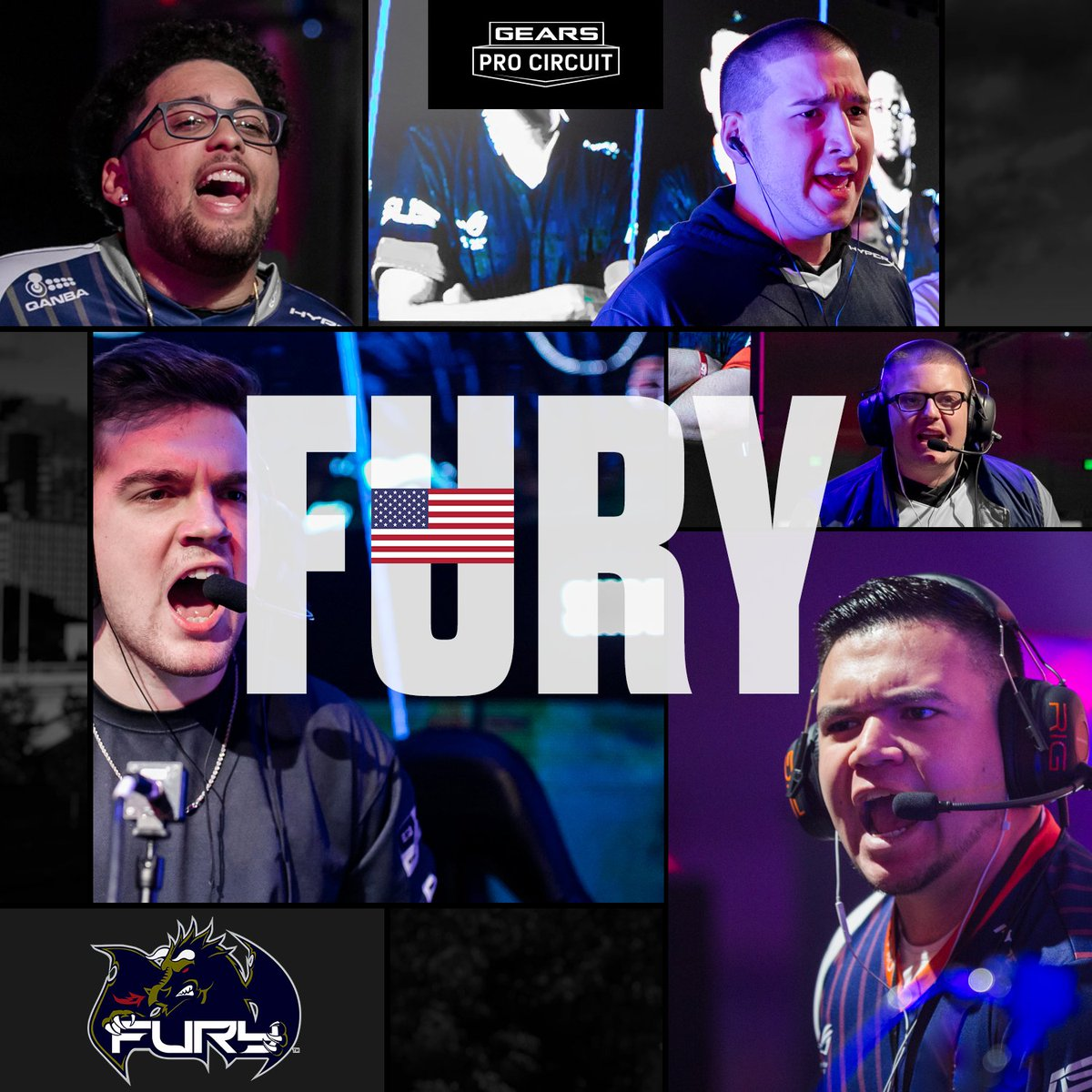 LIVE NOW: Young guns @Hive_gg look to avenge their San Diego loss to Fury on main stage.  Tune into http://live.gearsofwar.com now and don't miss your chance to claim the Animal Longshot
