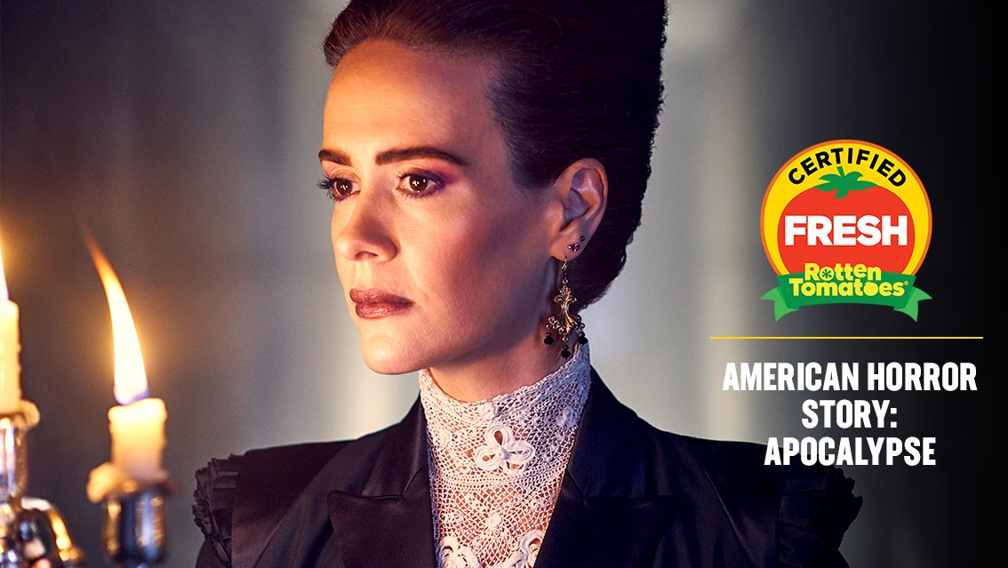 #AHSApocalypse is officially #CertifiedFresh at 84% on the #Tomatometer, with 175 reviews https://t.co/2eAyZmbLBc