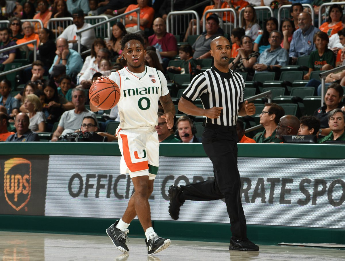 10-0 run for the Canes after another bucket from @IAm_Lykesdat. Canes 37, B-C 31 | 18:39 2H