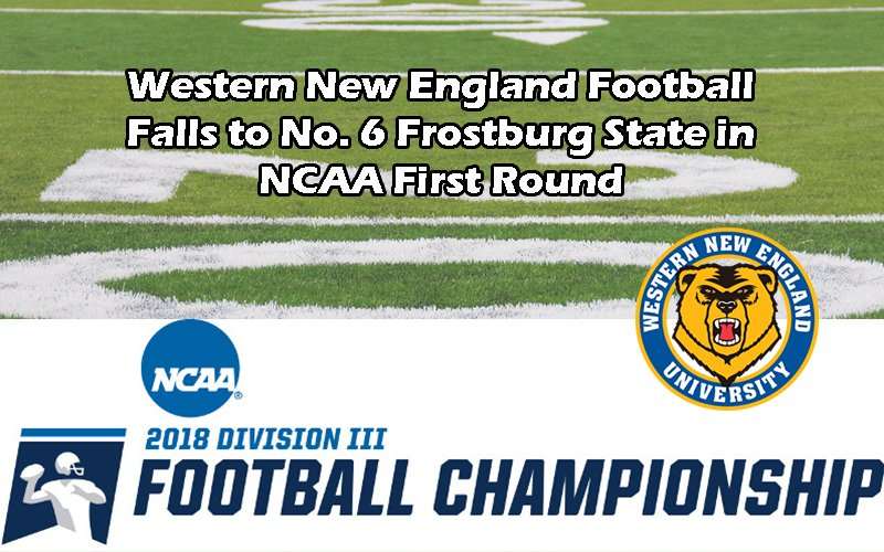 #CCCFB: Congratulations to @WNE_GoldenBears on a great season! It came to an end on Saturday with a loss in the @NCAADIII First Round:  http://cccathletics.com/sports/fball/2018-19/releases/2018NCAA1stRd…  #d3fb