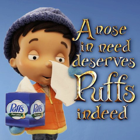 One year for Christmas I asked for Puffs Tissues because I loved the commercials so much
