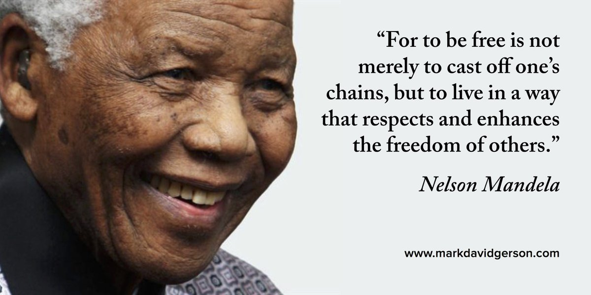 """To be free is to live in a way that respects and enhances the freedom of others."" #nelsonmandela #humanrights https://t.co/jyiZwVthRR"