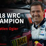 🏆 He's done it! With both his rivals out of @RallyAustralia, @SebOgier is a six-time World Rally Champion! #WRC  @MSportLtd @FordPerformance @OfficialWRC