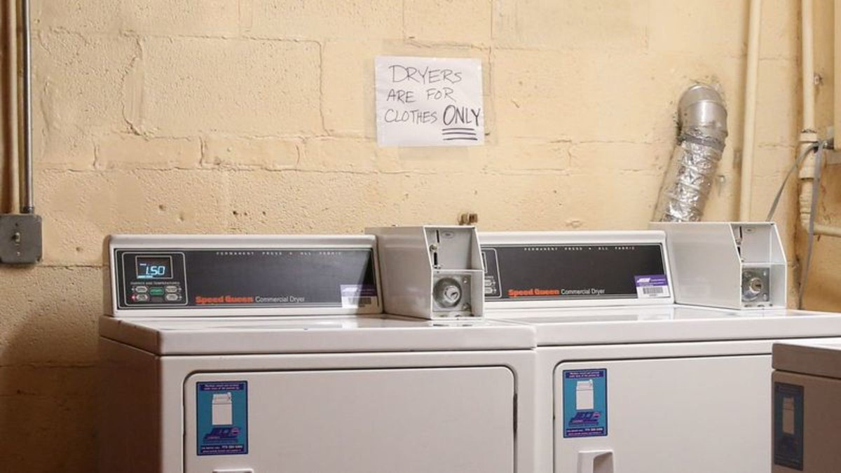 Cryptic New Laundry Room Rule Hints At Tale Of Bizarre Infraction trib.al/37f8hht