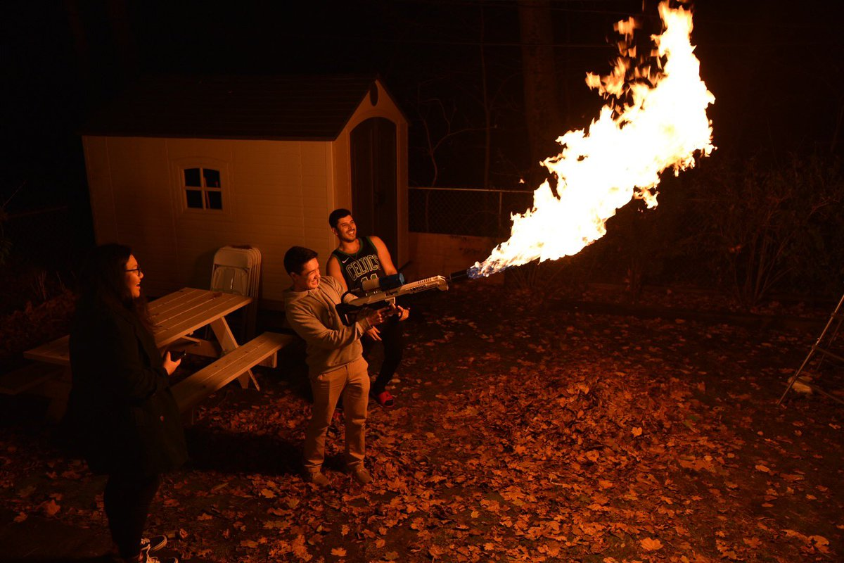 people are starting to show up to my twitter thanksgiving party. first order of business: flamethrower.