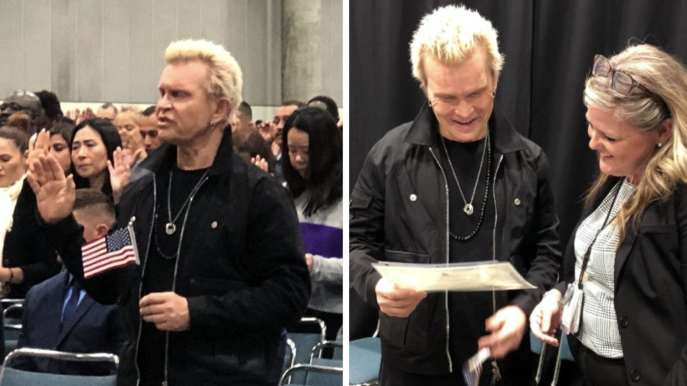 Billy Idol becomes a US citizen: 'It's a nice day for a naturalization ceremony' https://t.co/Cjkln4jjg1