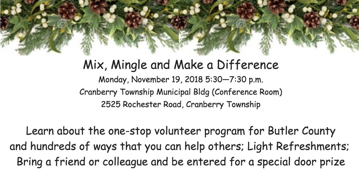 Butler County Tourism and United Way SWPA&#39;s Butler County office invite you to make a difference this Monday:  http:// bit.ly/2TjPDbm  &nbsp;  . #MakeADifference #JoinTheFight #UnitedWeWin<br>http://pic.twitter.com/v4pToOpoMc