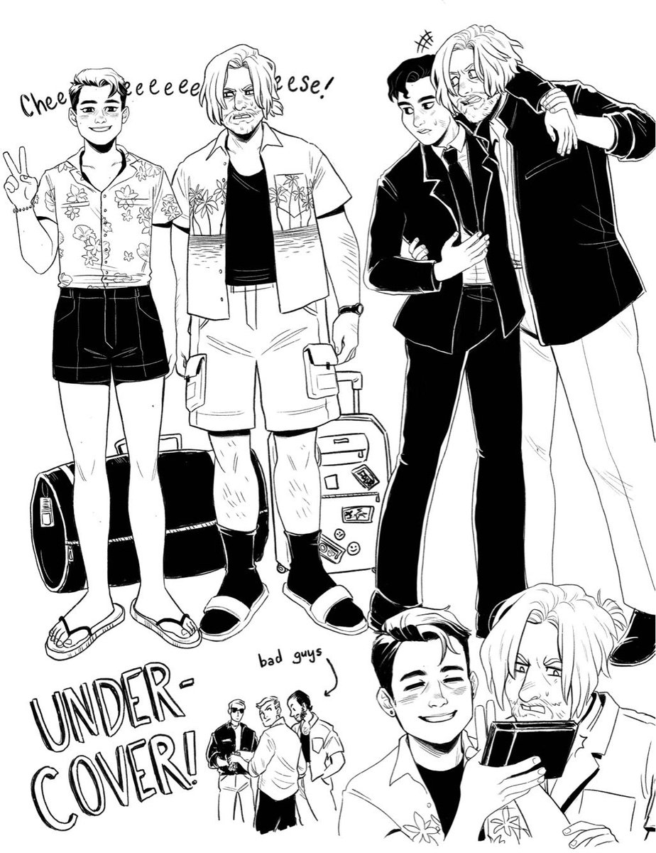 This was the first thing I drew after I finished #dbh- hank and Connor go on vacation (undercover of course) and chill and fight bad guys<br>http://pic.twitter.com/r4onniRSOc