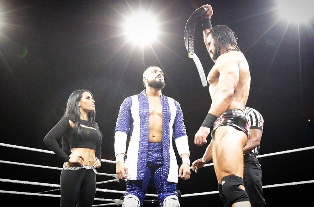 Last year #NXTWarGames was a very special night for #elidolo and I. We will never forget it because @AndradeCienWWE became the #NXT champion! And the best one in NXT history ;)  Tonight everyone involved will kill it! Tear it up @WWENXT <br>http://pic.twitter.com/HhRn1DVRwr