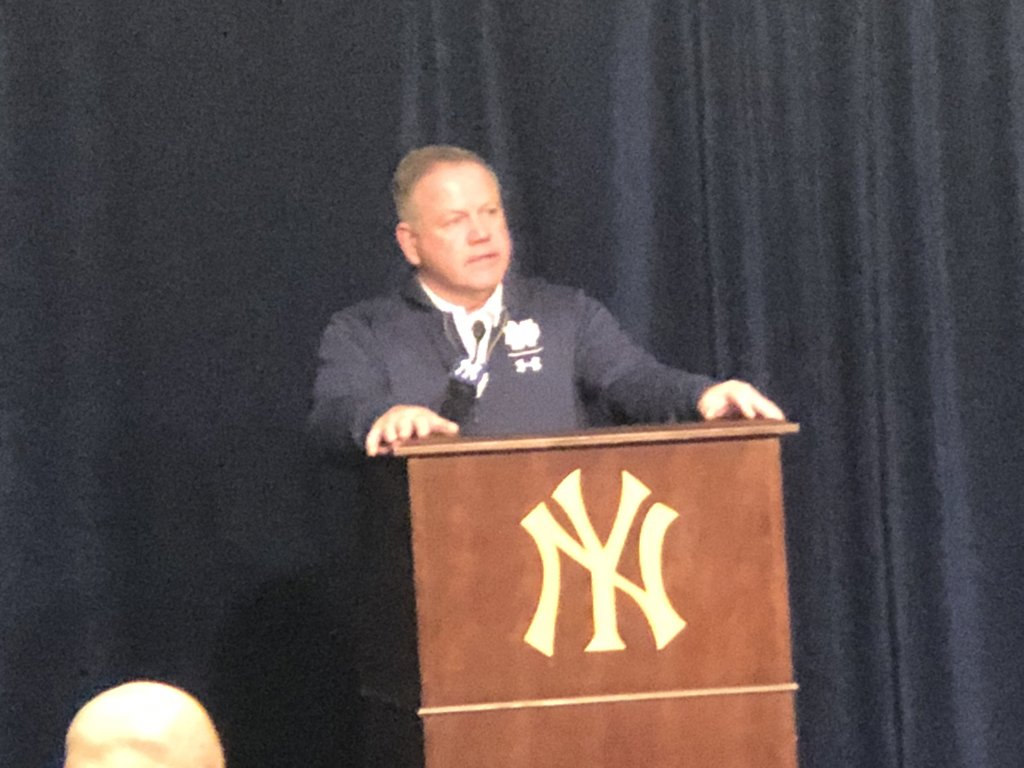 Notre Dame coach Brian Kelly said Ian Book played pretty well but showed some rust from the week off with a rib injury. Said Book came away feeling good health-wise. es.pn/2QMDnyo