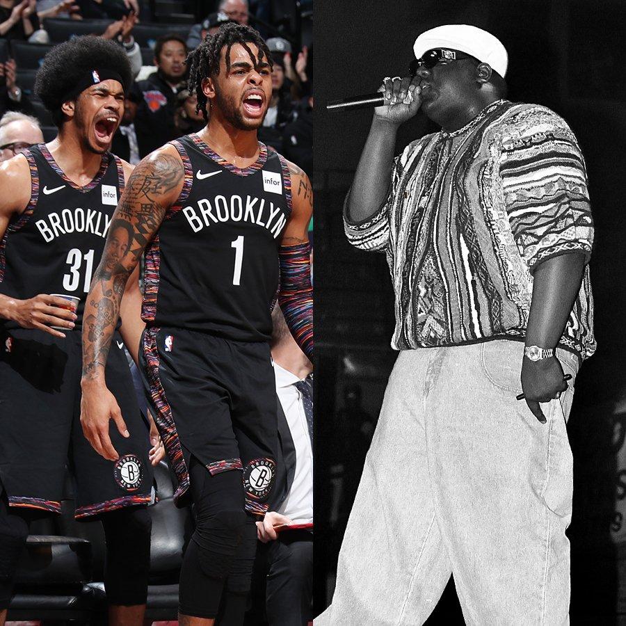 Nets went Coogi down to the sleeves like Big Poppa 🔥